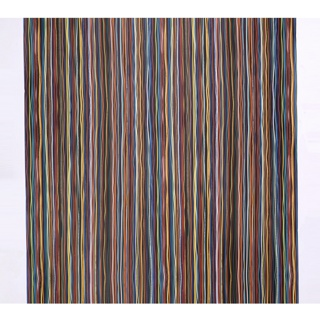 Dense stripe pattern created by horizontal strands of brightly colored insulated wire. The wires are colored red, green, blue, orange, yellow, black and white, in a range of gauge sizes, against a black ground. The print indicating the wire's specifications is visible.