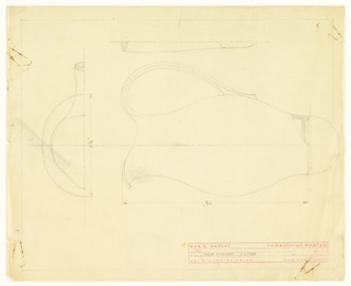 Design for a milk pitcher.
