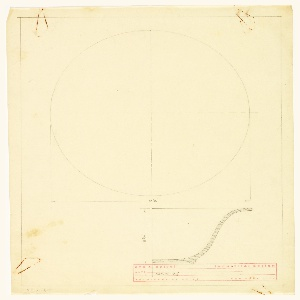 Design for a nappie or small dish; elevation and top view.