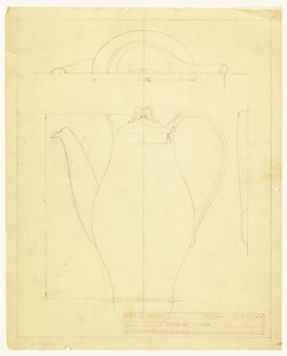 Drawing, Design for Coffee Pot
