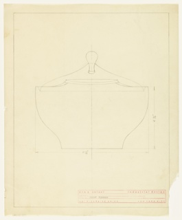 Design for a soup tureen.