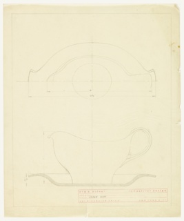 Design for gravy boat with saucer attached.