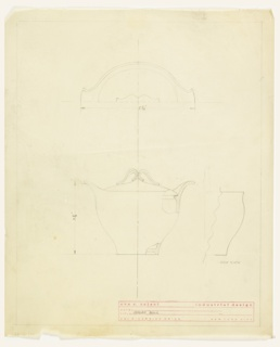 Design for sugar bowl.