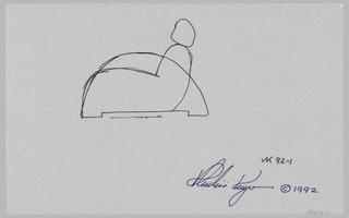 Design for armchair.