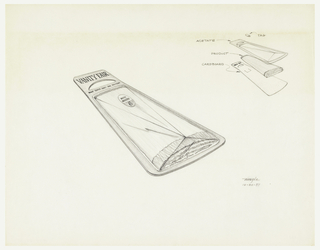 Package design; text on packaging: VANITY FAIR.