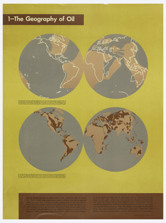 Poster, The Geography of Oil
