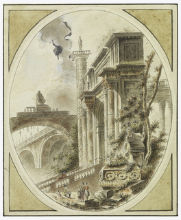 Drawing, Fantasy of an Architectural Ruin