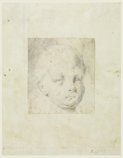 A child shown in three-quarter profile.