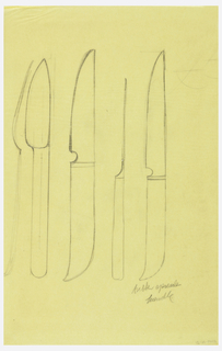 Flatware design: knives.