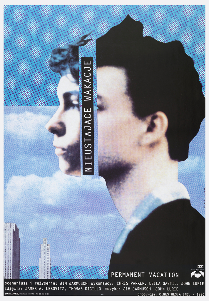 The poster is a collage of several layers: 
