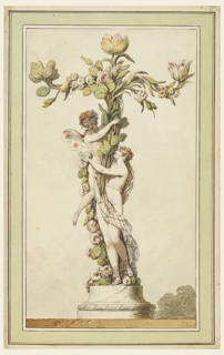 Drawing, Design for a Porcelain Candlestick