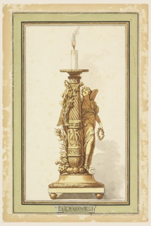 Drawing, Design for a Bronze Candlestick