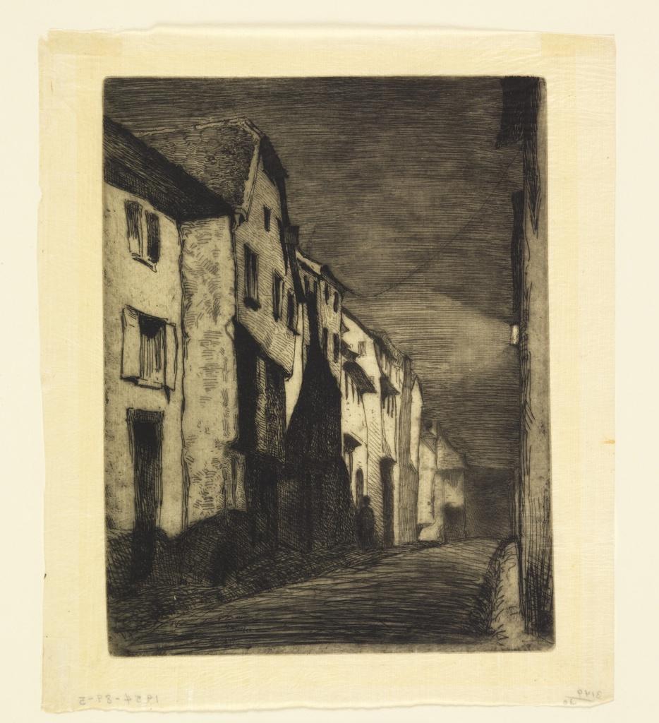 Print, Street in Saverne