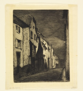 Print, Street in Saverne