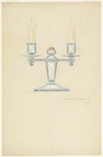 Design for candelabrum.