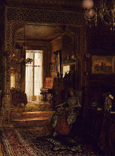 Painting, Interior of Henry de Forest House, 1878