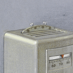 Design for regulator in gray.