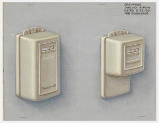Drawing, Design for Two Regulators