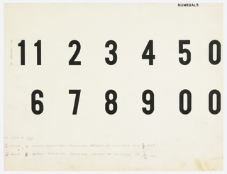 Drawing, Design for Numerals