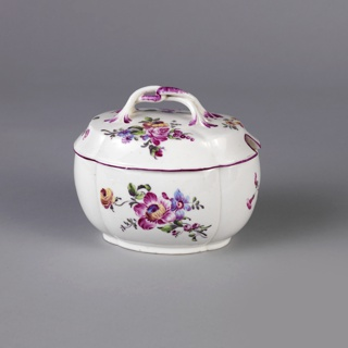 Sugar Bowl, Lid, And Tray (France)