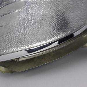 Cast aluminum, molded Bakelite