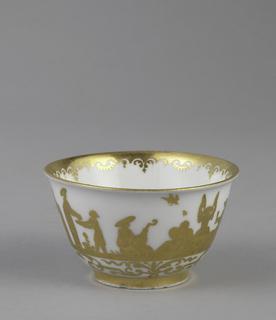 """Tea Bowl and Saucer with """"Hausmaler"""" Decor Tea Bowl And Saucer"""