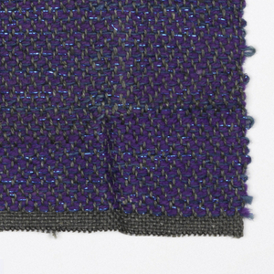 Hand woven sample in overall color lilac.