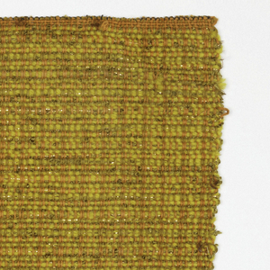 Hand woven sample in mixture of gold and orange.