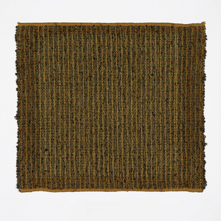 Hand woven sample in mixture of black and rust.