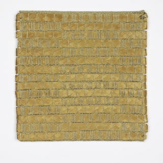 Hand woven in textured natural and gray.
