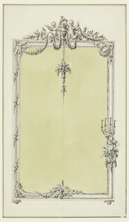 Drawing, Design for a Mirror Frame, with Alternative Suggestion
