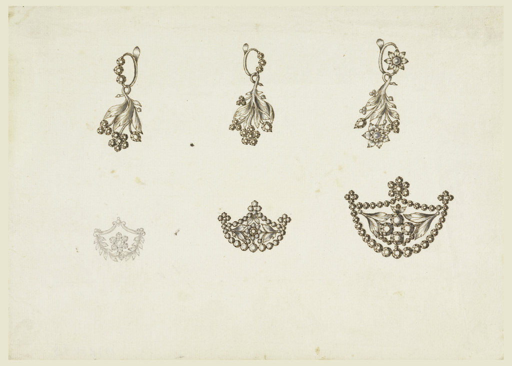 Drawing, Earrings and Brooches