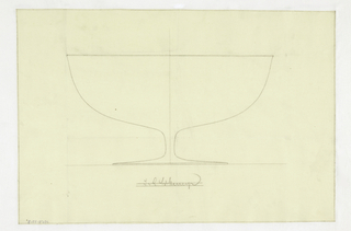Design for a fruit bowl on a low stem.