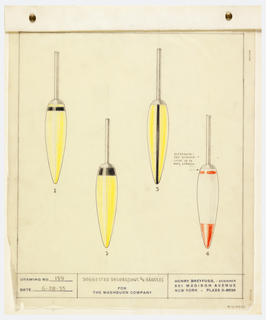 Drawing, Suggested Decorations for Implement Handles, for the Washburn Company