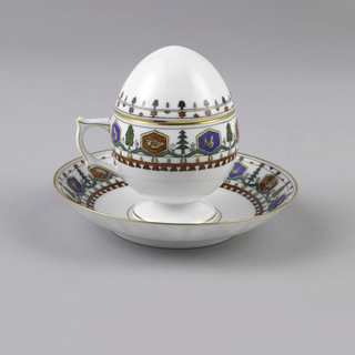 Custard Cup, Lid, And Saucer (Russia)