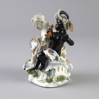 """Allegorical Figure Depicting Putti as """"Asia"""" and """"Africa"""" Figure"""