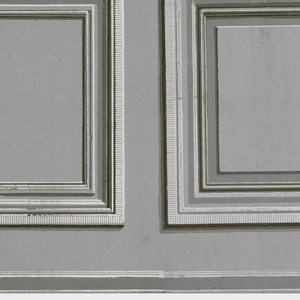 Inset panels, alternating large panels with small. Printed in grisaille.  H# 633