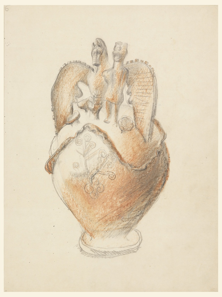Drawing, Drawing after a Serbian Vase