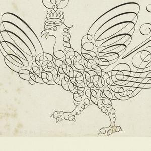 Print, Writing Example from Literary Treasure, Spieghel der Schrijfkonste. Tweede Deel (The Mirror of Calligraphy, Second Part)