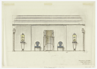 Drawing, Dining Room Wall Elevation, Agnes Miles Carpenter Residence, 950 Fifth Avenue, New York, NY
