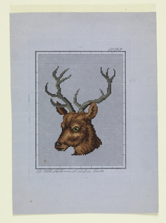 Drawing, Design for Berlin Wool Work, Stag