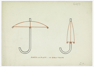 Drawing, Design for a Monogram: J.A.