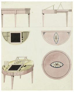 Drawing, Design for Mechanical Furniture: Tables