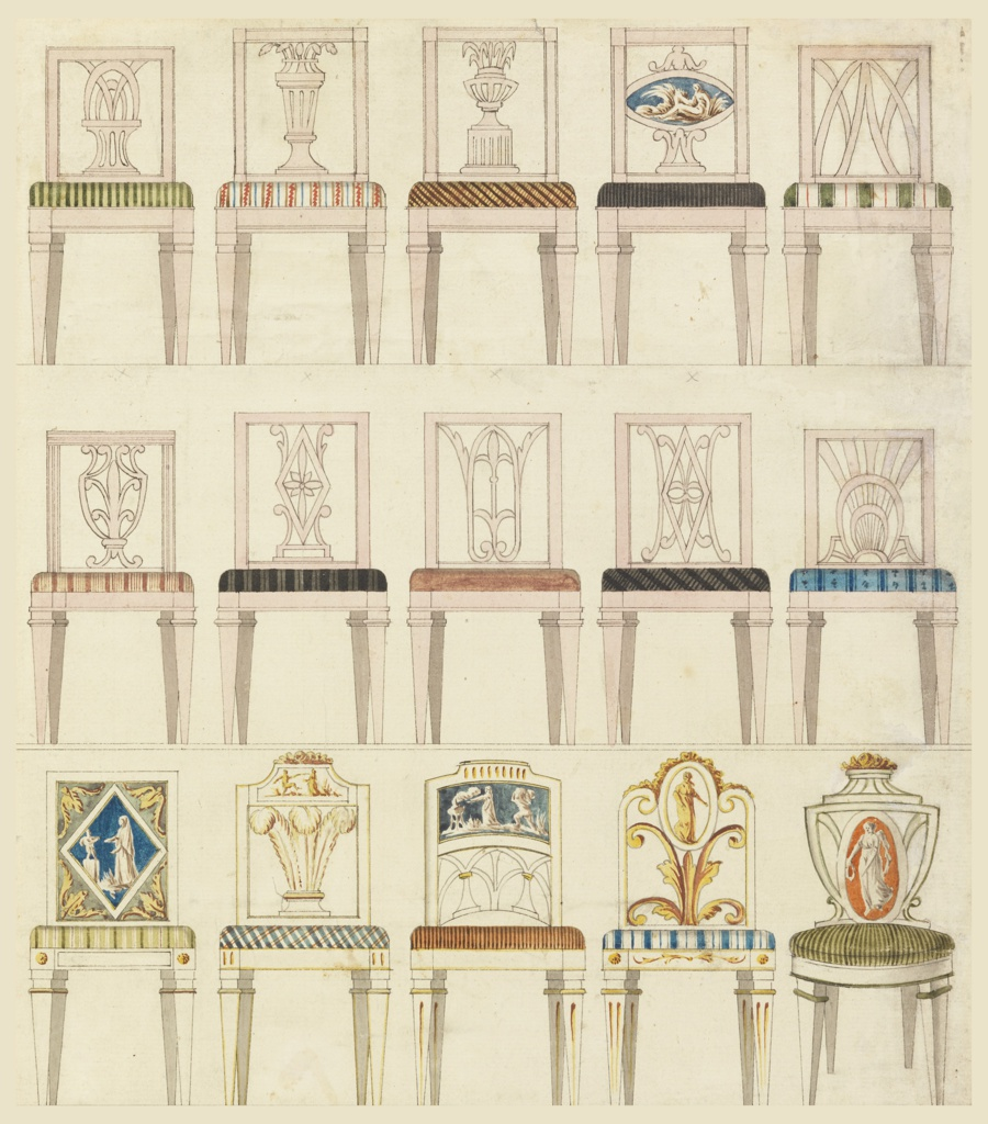 Drawing, Designs for Fifteen Side Chairs