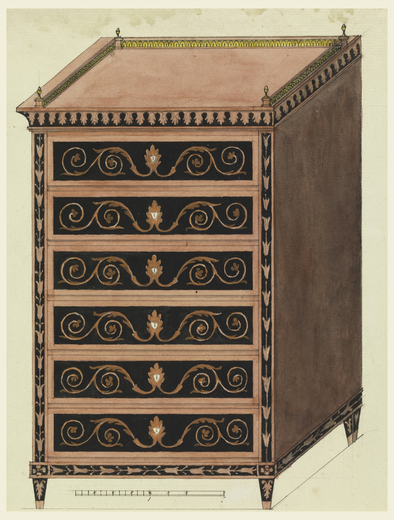 Drawing, Design for a Chest of Drawers