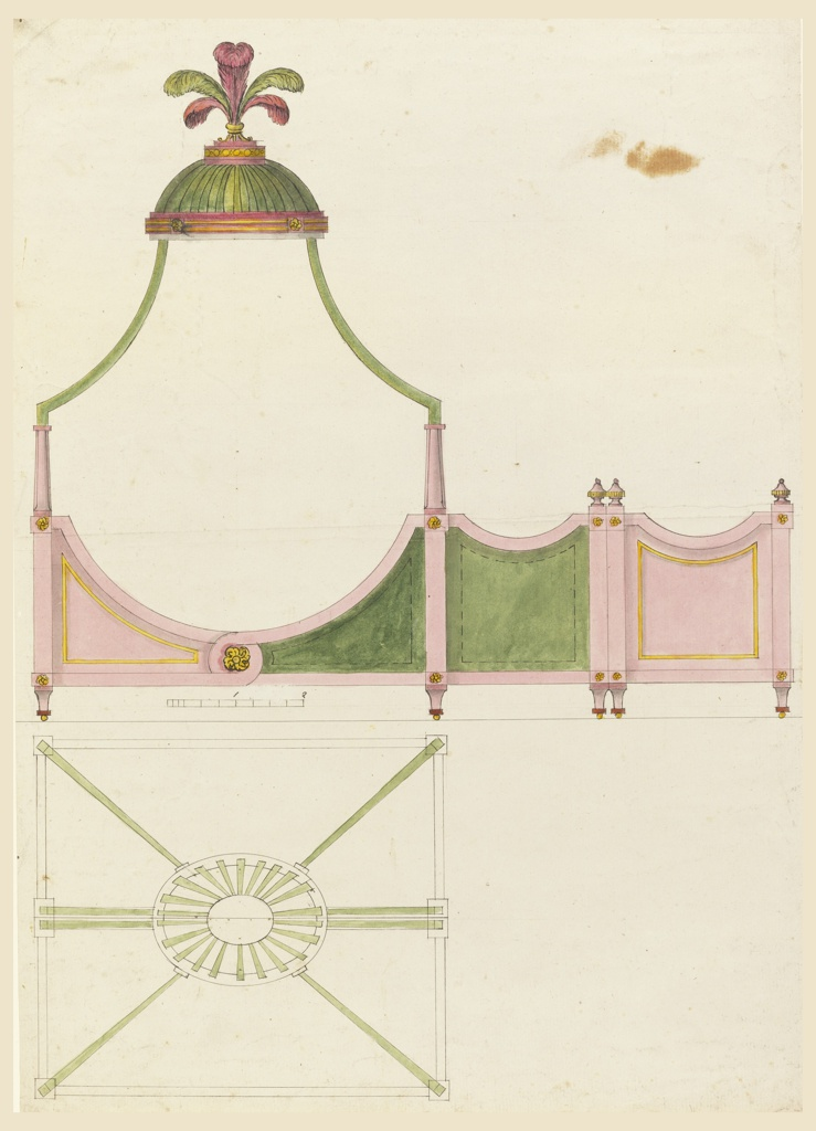 Drawing, Design for a Canopy Bed