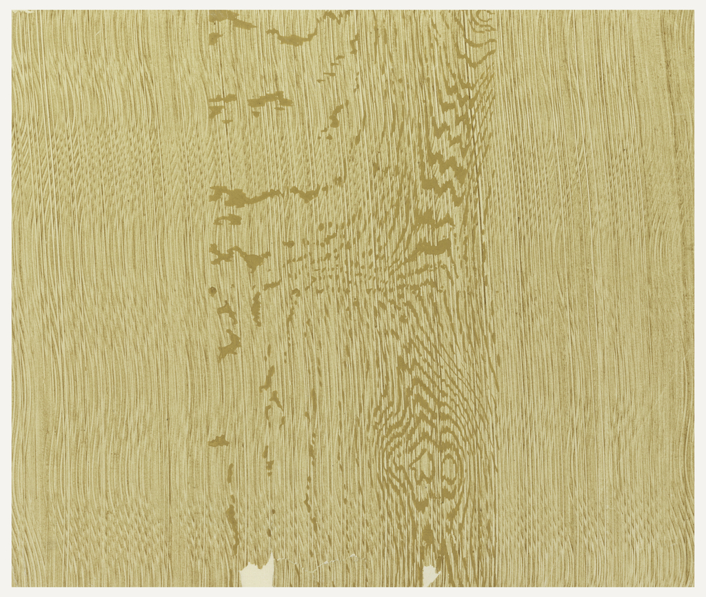 Simulated wood graining. Printed in oil color on white paper.