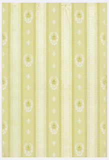 Floral stripe, printed in shades of yellow and white.