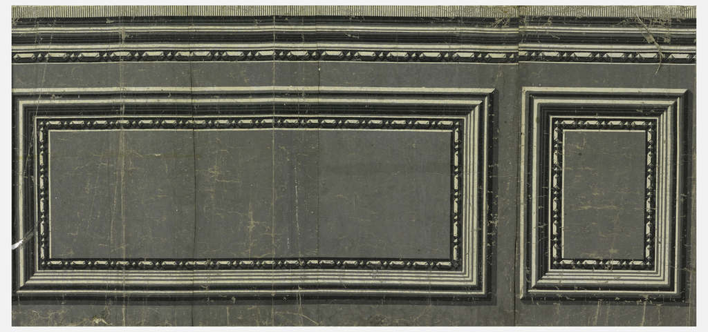 Inset panel dado printed in grisaille: bead-and-reel motif on the interior of molding.  H# 314 ?