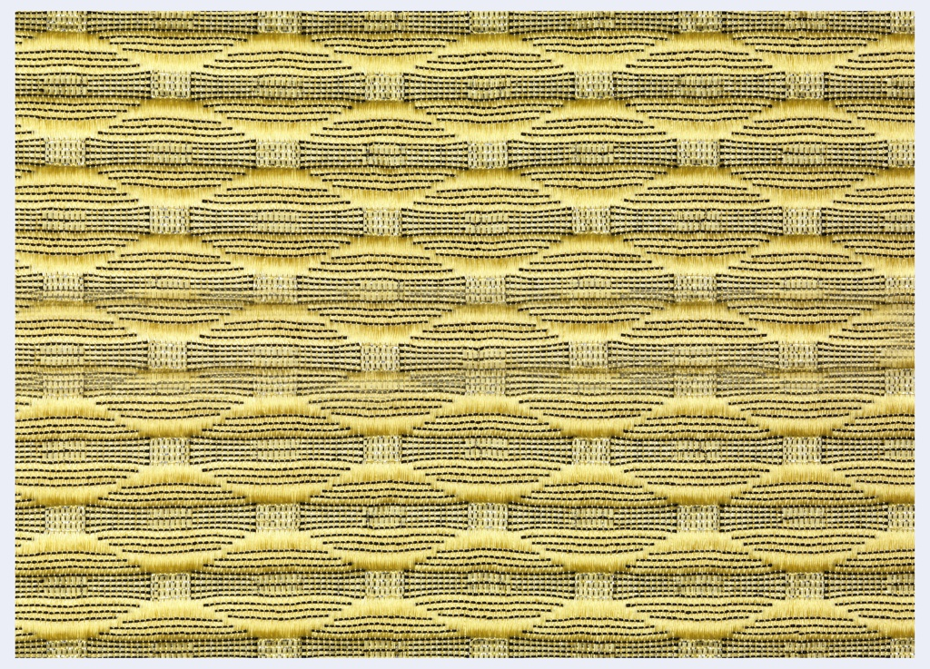 Textile, Gold Ripple-Wave